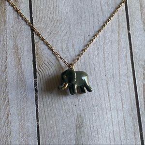 Dainty tiny elephant J Crew necklace